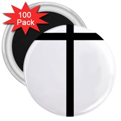 Papal cross 3  Magnets (100 pack)