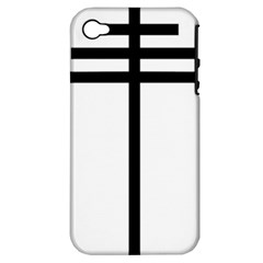 Papal cross Apple iPhone 4/4S Hardshell Case (PC+Silicone)