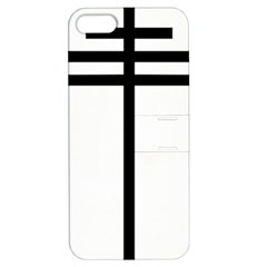 Papal cross Apple iPhone 5 Hardshell Case with Stand