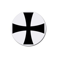 Cross Patty Rubber Round Coaster (4 Pack)