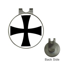 Cross Patty Hat Clips With Golf Markers