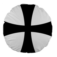 Cross Patty Large 18  Premium Round Cushions