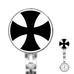 Cross Patty Stainless Steel Nurses Watch