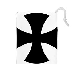 Cross Patty Drawstring Pouches (Large)