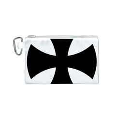 Cross Patty Canvas Cosmetic Bag (S)