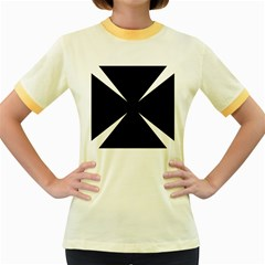 Cross Patty  Women s Fitted Ringer T-Shirts
