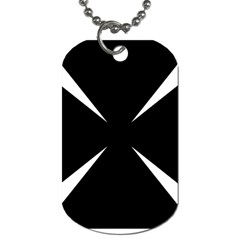 Cross Patty  Dog Tag (Two Sides)