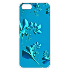 Amazing Floral Fractal A Apple iPhone 5 Seamless Case (White)