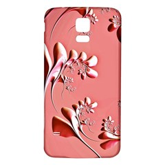 Amazing Floral Fractal B Samsung Galaxy S5 Back Case (white)