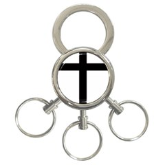 Patriarchal Cross 3 Ring Key Chains