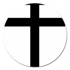 Patriarchal Cross Magnet 5  (Round)
