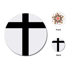 Patriarchal Cross Playing Cards (round)
