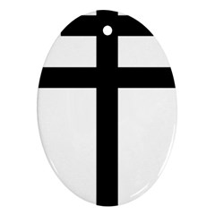 Patriarchal Cross Oval Ornament (two Sides)