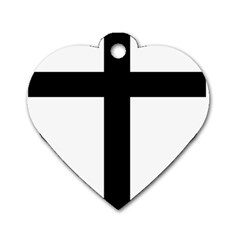 Patriarchal Cross Dog Tag Heart (two Sides)