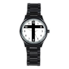 Patriarchal Cross Stainless Steel Round Watch