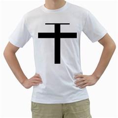 Patriarchal Cross Men s T-Shirt (White)