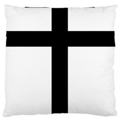 Patriarchal Cross Large Flano Cushion Case (one Side)