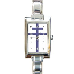 Patriarchal Cross Rectangle Italian Charm Watch