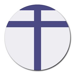 Patriarchal Cross Round Mousepads