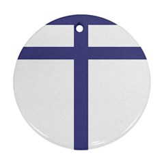 Patriarchal Cross Ornament (round)
