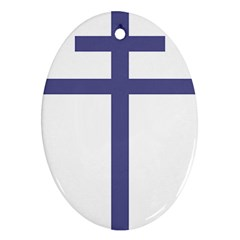 Patriarchal Cross Ornament (oval)