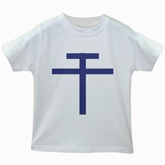 Patriarchal Cross Kids White T Shirts