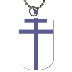 Patriarchal Cross Dog Tag (one Side)