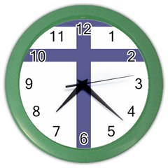 Patriarchal Cross Color Wall Clocks