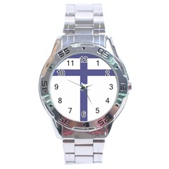 Patriarchal Cross Stainless Steel Analogue Watch