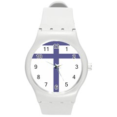 Patriarchal Cross Round Plastic Sport Watch (M)