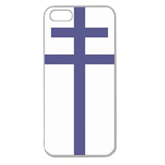 Patriarchal Cross Apple Seamless iPhone 5 Case (Clear)