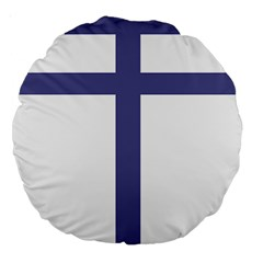 Patriarchal Cross Large 18  Premium Round Cushions