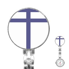 Patriarchal Cross Stainless Steel Nurses Watch