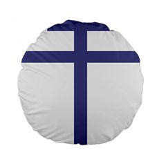 Patriarchal Cross Standard 15  Premium Flano Round Cushions
