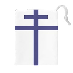 Patriarchal Cross Drawstring Pouches (Extra Large)