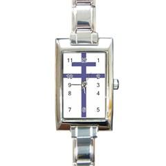 Patriarchal Cross Rectangle Italian Charm Watch