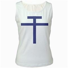 Patriarchal Cross Women s White Tank Top