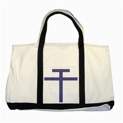 Patriarchal Cross Two Tone Tote Bag