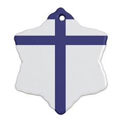 Patriarchal Cross Snowflake Ornament (Two Sides)