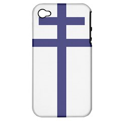 Patriarchal Cross Apple iPhone 4/4S Hardshell Case (PC+Silicone)