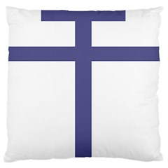 Patriarchal Cross Large Flano Cushion Case (Two Sides)