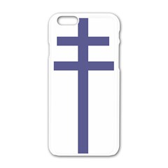 Patriarchal Cross Apple iPhone 6/6S White Enamel Case