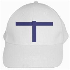 Patriarchal Cross  White Cap