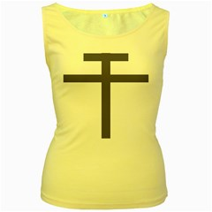 Patriarchal Cross  Women s Yellow Tank Top