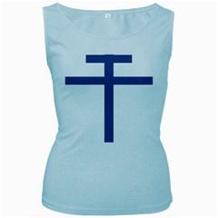 Patriarchal Cross  Women s Baby Blue Tank Top