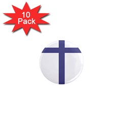 Patriarchal Cross  1  Mini Magnet (10 Pack)