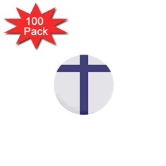 Patriarchal Cross  1  Mini Buttons (100 Pack)