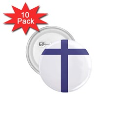 Patriarchal Cross  1 75  Buttons (10 Pack)