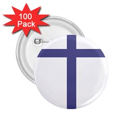 Patriarchal Cross  2 25  Buttons (100 Pack)