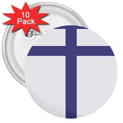Patriarchal Cross  3  Buttons (10 Pack)